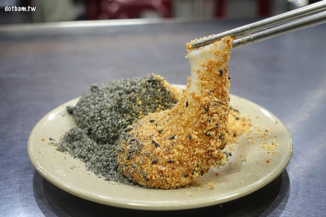 延三夜市美食推薦|祥記橋頭客家純糖麻糬,來份熱呼呼好吃的燒麻糬