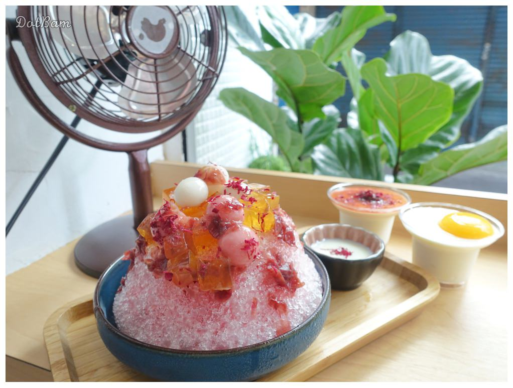 捷運東門站|金雞母甜品,少女系玫瑰冰及可愛的圓滾滾金雞蛋鮮奶酪
