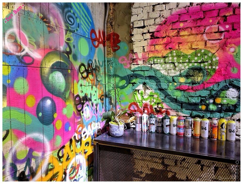 【URBN ⋈Culture台北市大安區捷運六張犁站】街頭塗鴉氛圍中吃蔬食搭配精釀啤酒吧,蔬食餐廳新選擇 24.JPG