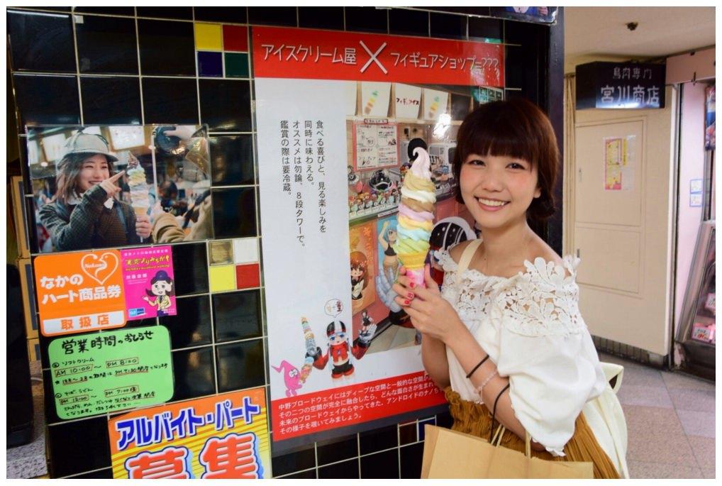東京,中野|デイリーチコ彩虹霜淇淋,八種馬卡龍色系堆疊出的巨無霸冰淇淋!