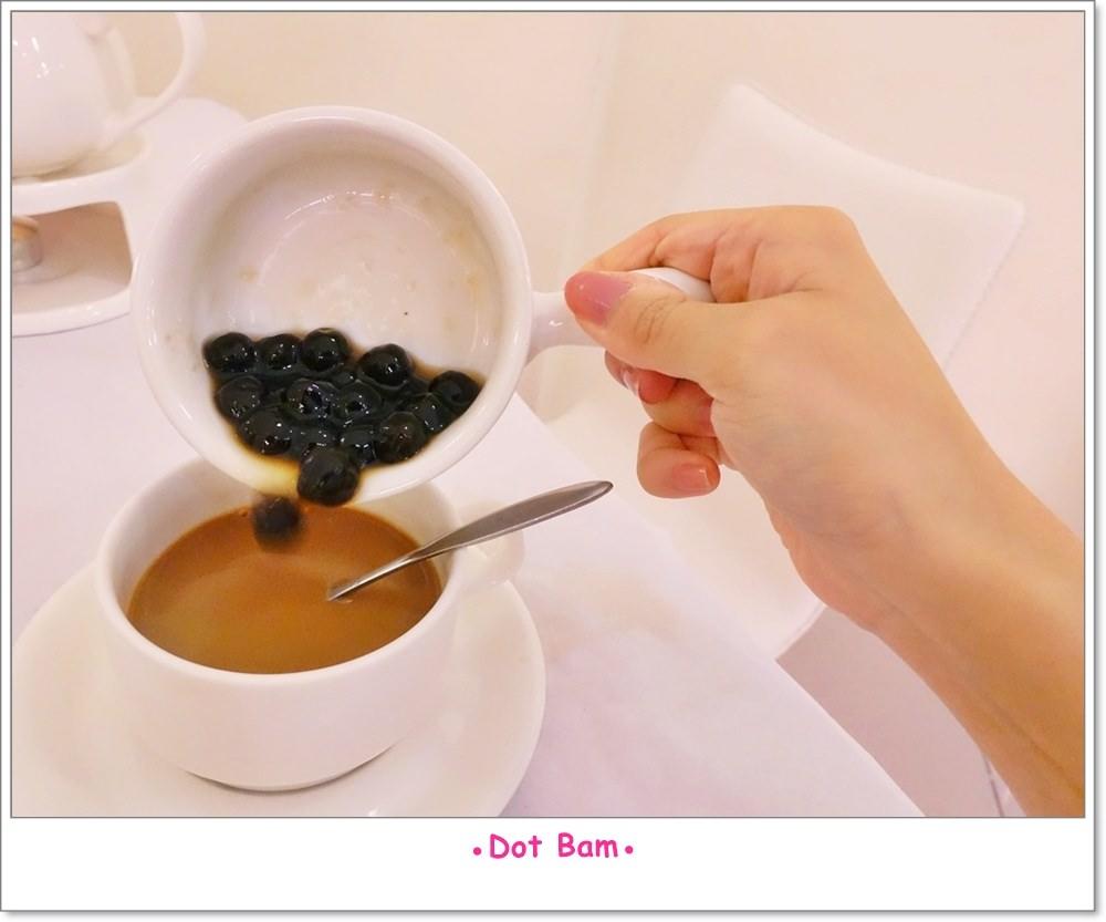 雨菓西餐 杭菊普洱珍珠鮮奶茶 3.JPG