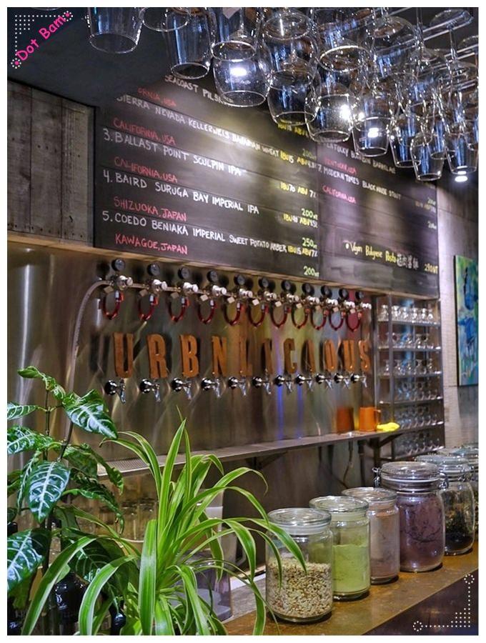 【URBN ⋈Culture台北市大安區捷運六張犁站】街頭塗鴉氛圍中吃蔬食搭配精釀啤酒吧,蔬食餐廳新選擇 6.JPG
