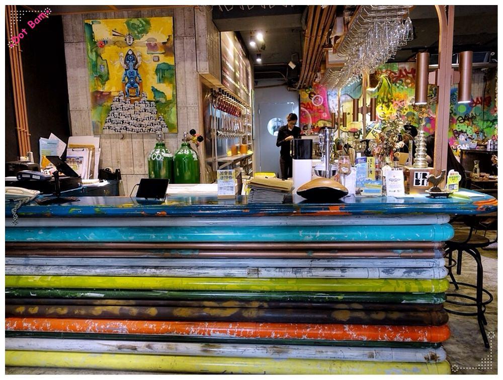 【URBN ⋈Culture台北市大安區捷運六張犁站】街頭塗鴉氛圍中吃蔬食搭配精釀啤酒吧,蔬食餐廳新選擇 4.JPG